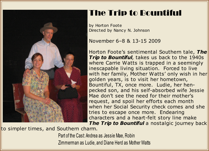 Part of the Cast: Andrea as Jessie Mae, Robin